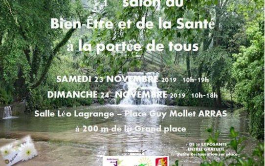23 & 24 novembre 2019- Salon du bien-être et de la santé à Arras.